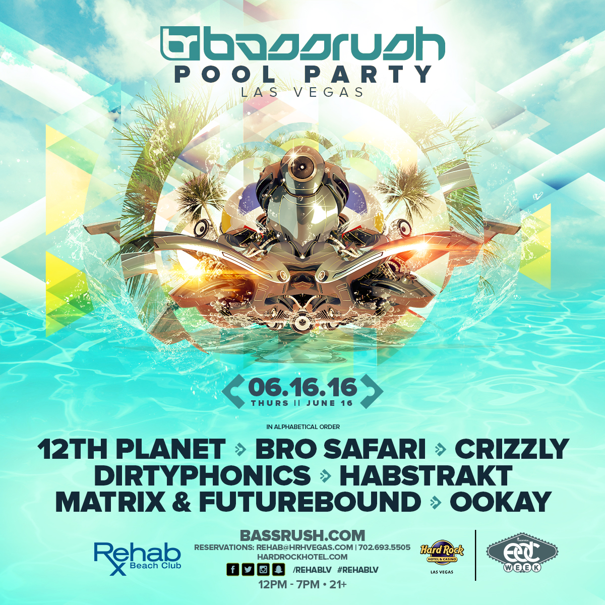Bassrush pool party las vegas bassrush for Pool show las vegas 2016