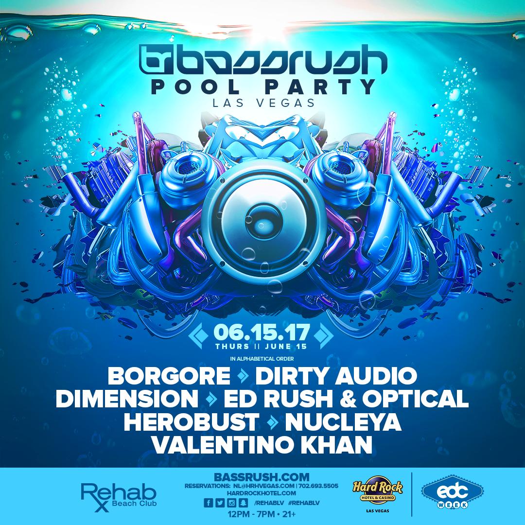 Bassrush pool party bassrush for Pool show las vegas 2018