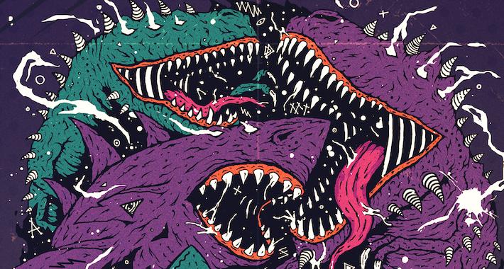 Megalodon & Midnight Tyrannosaurus Drop Some Jurassic Crunk